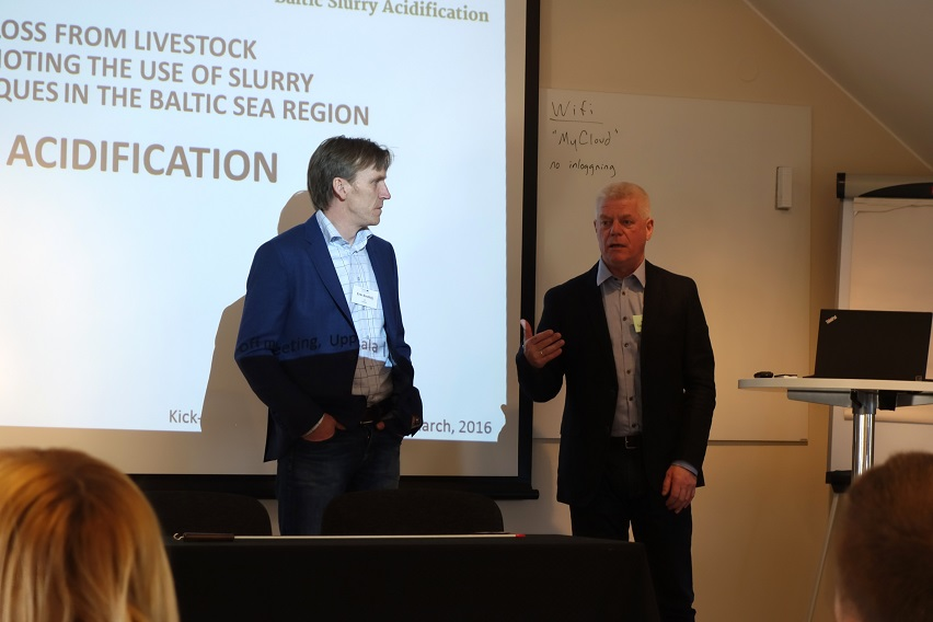 Project coordinator Erik Sindhöj and WP6 leader Henning Lyngsø Foged at project Kick-offf meeting in Uppsala, March 2016